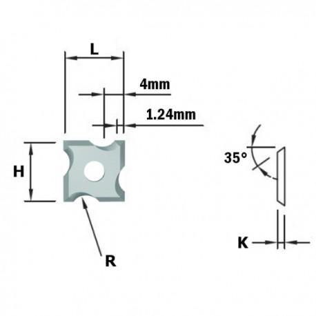 COLTELLO R-CONCAVO R2 (4 TAGLI) HW-F1730