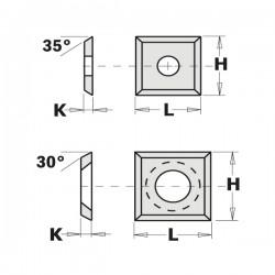 Coltello Rev. Std 4 Tagli A 35° 12x12x1.5mm Hw-k22