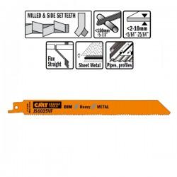 5 LAME SEGHETTO X METAL BIM 200X1.8-2.6X10-14TPI S