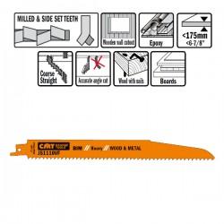 5 LAME SEGHETTO LEGNO-METAL BIM 225X3.2-5X5-8TPI S