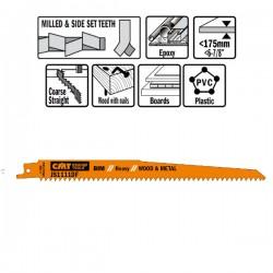 5 LAME SEGHETTO LEGNO-METAL BIM 225X4.3X6TPI SS-MI