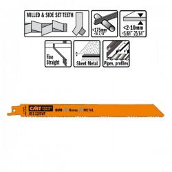 5 Lame Seghetto X Metal Bim 225x1.8-2.6x10-14tpi S