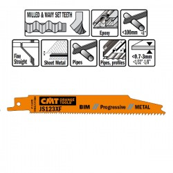 5 Lame Seghetto X Metal Bim 150x1.8-3.2x8-14tpi Ss