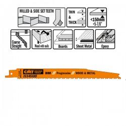 5 Lame Seghetto Legno-metal Bim 200x2.1-4.3x6-12tp