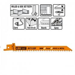 5 Lame Seghetto Legno-metal Bim 150x4.3x6tpi Ss-mi