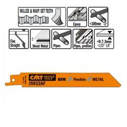 5 Lame Seghetto X Metal Bim 150x1x24tpi Wavyset-mi