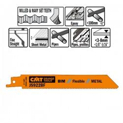 5 Lame Seghetto X Metal Bim 150x1.8x14tpi Wavyset-