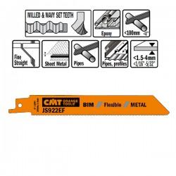 5 Lame Seghetto X Metal Bim 150x1.4x18tpi Wavyset-