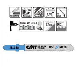 5 Blades Hacksaw X Metal Hss 76x1.1-1.5x21tpi Inc
