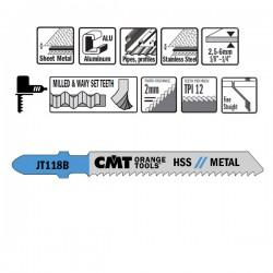 5 Blades Hacksaw X Metal Hss 76x1.9-2.3x12tpi Inc