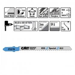 5 Blades Hacksaw X Aluminum Hss 100x3x8tpi Right