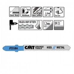 5 Blades Hacksaw X Metal Hss 76x1.1-1.5x21tpi Curved