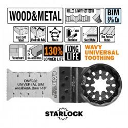 The blade Cut Wood-metal E-cut U-Bim 28x50mm Sl