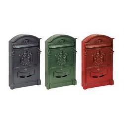 Cassetta Postale Regia Alluminio Rossa
