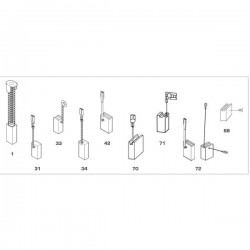 Spazzola Bosch 6.3x16x26
