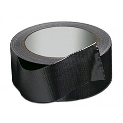 Nastro Americano Telato Black Tape 50x25 Mt