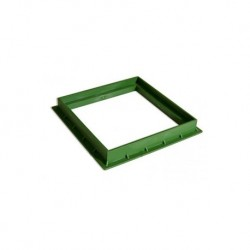 Single frame Cm Green 40x40 Pvc