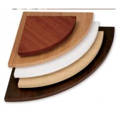 Mensola Ecopan Angolo Noce Medio Cm.50x50x1,8