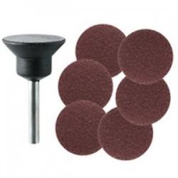 Platorello A Dischi Abrasivi Mm 20 Grane Assortiti