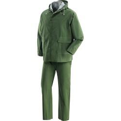 Completo Impermeabile Giacca E Pantalone In Pvc - Poliestere - Pvc