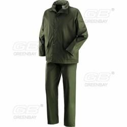 Completo Giacca E Pantalone In Pvc/pu Con Supporto 100% Poliestere Modello Victoria