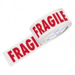 Nastro Ppa Bianco 50x66 Scritta Fragile In Rosso