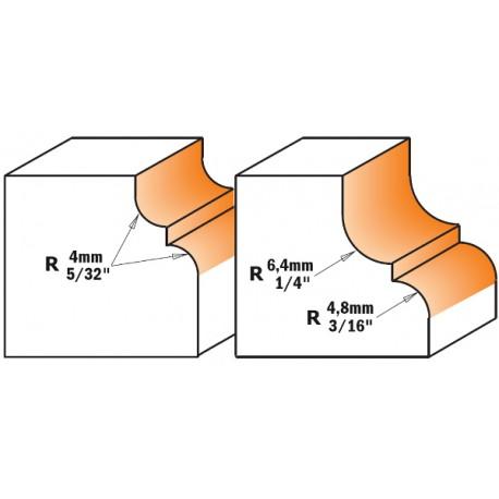 Fresa Profilata Con Cuscinetto Hm S-6 R-4.8-6.4