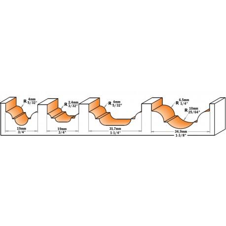 Fresa Profilata Hm S-6 D-19x13 R-4