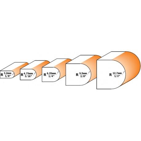 Fresa A Mezzo Tondo Concavo Hw S-6 D-25.4x22 R-4.8