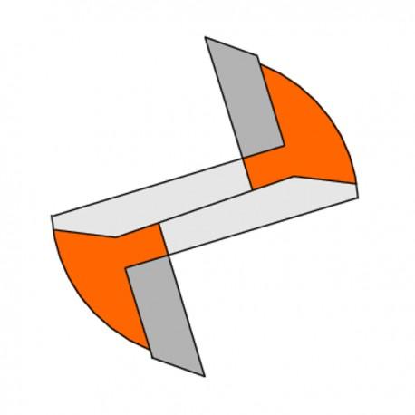 Fresa Tagliente Diritto Z1 Hwm S-6 D-2x4x45 Dx
